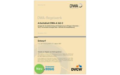 DWA-Regelwerk: Biogas und Wasserstoff in Gasnetze einspeisen