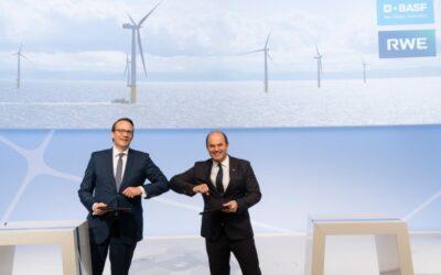 RWE und BASF wollen neuen Offshore-Windpark errichten
