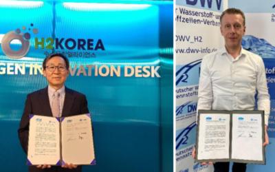 H2Korea und DWV unterzeichnen Absichtserklärung