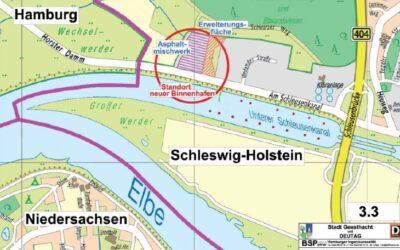 """Länderübergreifende Unterstützung für das Projekt """"Wasserstoffhafen Geesthacht"""""""